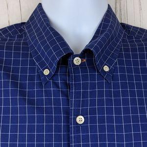 Bullock & Jones Size L Button Front Shirt S/S Blue